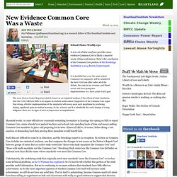 New Evidence Common Core Was a Waste
