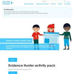 Evidence Hunter activity pack