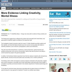 More Evidence Linking Creativity, Mental Illness