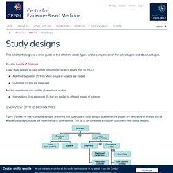 Study designs — Centre for Evidence-Based Medicine (CEBM), University of Oxford
