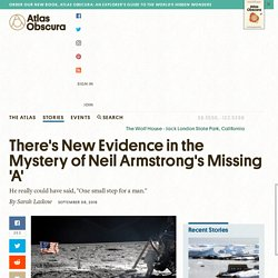 There's New Evidence in the Mystery of Neil Armstrong's Missing 'A'