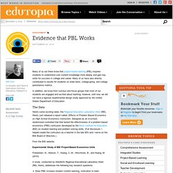 Evidence that PBL Works