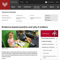 Evidence-based practice and why it matters