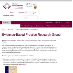McMaster - Evidence-Based Practice Research Group (OT)