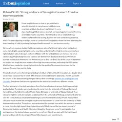 Richard Smith: Strong evidence of bias against research from low income countries – The BMJ