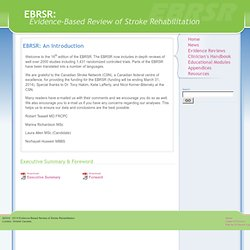 EBRSR: Evidence-Based Review of Stroke Rehabilitation