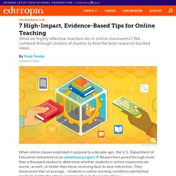 Using High-Impact, Evidence-Based strategies to Improve Online Teaching