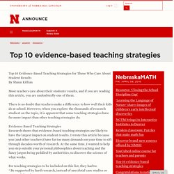 Top 10 Evidence-Based Teaching Strategies