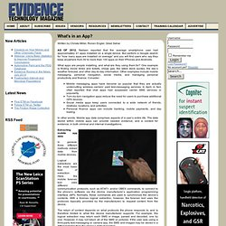 Evidence Technology Magazine - What's in an App?