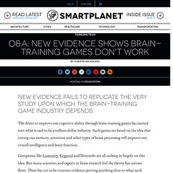 Q&A: New evidence shows brain-training games don't work