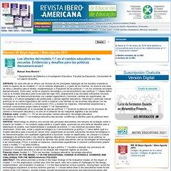 Manuel Area Moreira, «Los efectos del modelo 1:1 en el cambio educativo en las escuelas. Evidencias y desafíos para las políticas iberoamericanas»