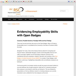 Evidencing Employability Skills with Open Badges