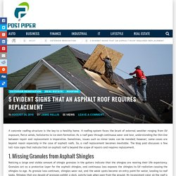 5 Evident Signs that an Asphalt Roof Replacement is Required