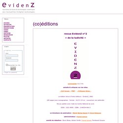 EvidenZ : home-editions