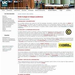 Evitar el plagio en trabajos académicos (U. Cantabria)