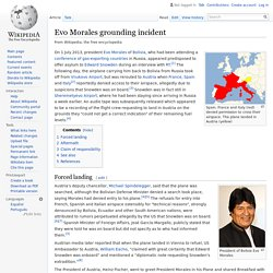 Evo Morales grounding incident