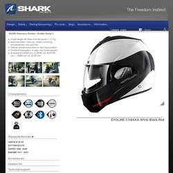 Casque Shark Evoline 3 White Black Red