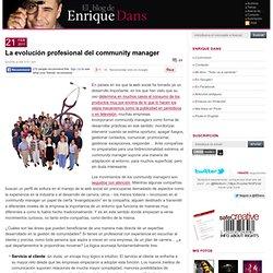La evolución profesional del community manager
