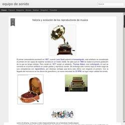 equipo de sonido: historia y evolución de los reproductores de musica