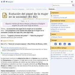 Evolución del papel de la mujer en la sociedad - Espagnol