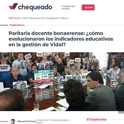 Paritaria docente bonaerense: ¿cómo evolucionaron los indicadores educativos en la gestión de Vidal? - Chequeado