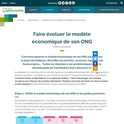 Faire évoluer le modèle économique de son ONG - France générosités
