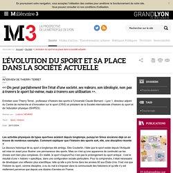 L'évolution du sport et sa place dans la société actuelle : Millenaire 3, Société