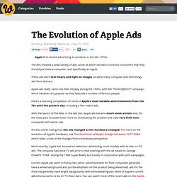 The Evolution of Apple Ads