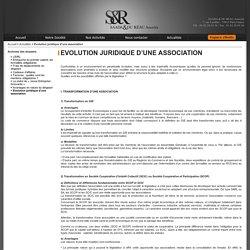Evolution juridique d'une association