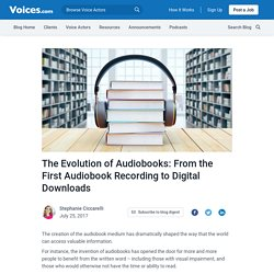 The Evolution of Audiobooks from the First Audiobook to the Digital Age