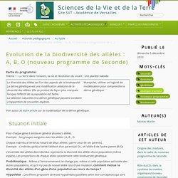 Evolution de la biodiversité des allèles : A, B, O (nouveau programme de Seconde)