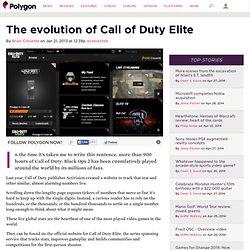 The evolution of Call of DutyElite