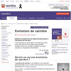 Evolution de carrière : préparer et planifier l'évolution de carrière