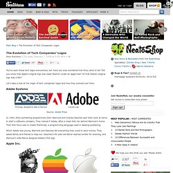Blog Archive » The Evolution of Tech Companies' Logos