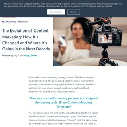 The Evolution of Content Marketing: How It's Changed and Where It's Going in the Next Decade