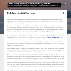 The Evolution of Content Writing Services