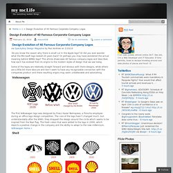 Design Evolution of 40 Famous Corporate Company Logos « my mcLife