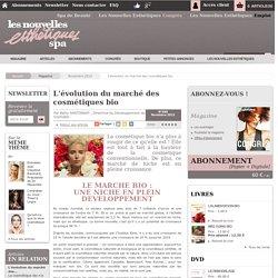 L'évolution du marché des cosmétiques bio - Article de Novembre 2015