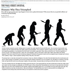 Evolution and Creativity: Why Humans Triumphed
