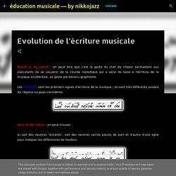 Fiche 5 : Evolution de l'écriture musicale Moyen-age et Renaissance