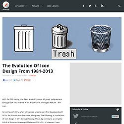 The Evolution Of Icon Design From 1981-2013