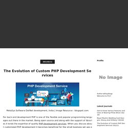 The Evolution of Custom PHP Development Services -