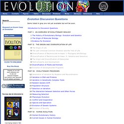 Evolution Discussion Questions
