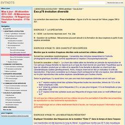 Exo p78 évolution diversité - SVTNDTS