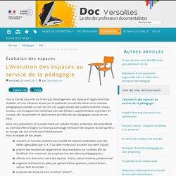 L'évolution des espaces au service de la pédagogie - Documentation