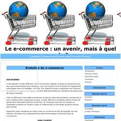 Evolution du e-commerce