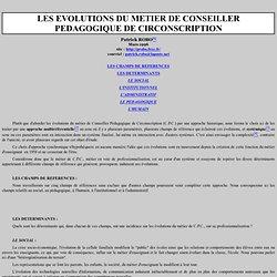 EVOLUTION DU METIER DE C.P.A.I.E.N.
