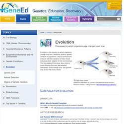 Evolution - GeneEd - Genetics, Education, Discovery