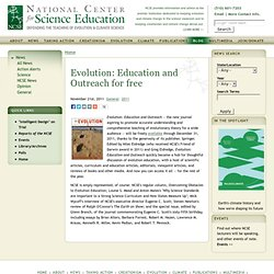 Evolution: Education and Outreach for free