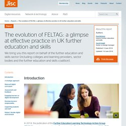 The evolution of FELTAG: a glimpse at effective practice in UK further education and skills